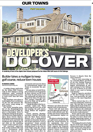 Developer's Do-over: Builder takes a mulligan to keep golf course, reduce townhouses.