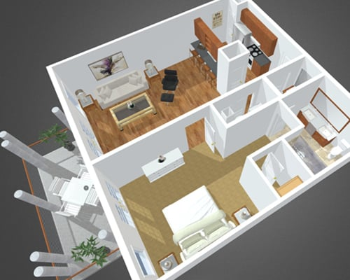 Conscience Bay floor plan at Overbay Luxury Apartments