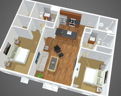 The Cove floor plan at Overbay Luxury Apartments
