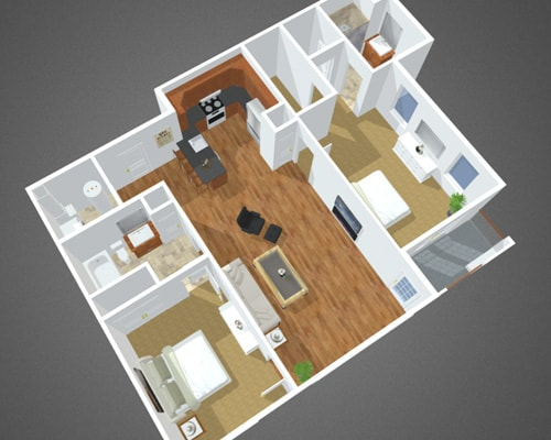 Flax Pond floor plan at Overbay Luxury Apartments