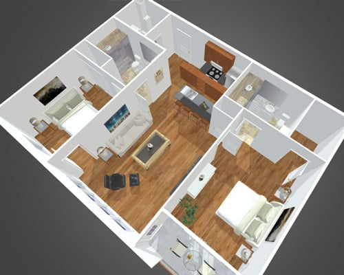Little Bay floor plan of Overbay Apartment Community