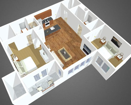 Porpoise Channel floor plan at Overbay Luxury Apartments
