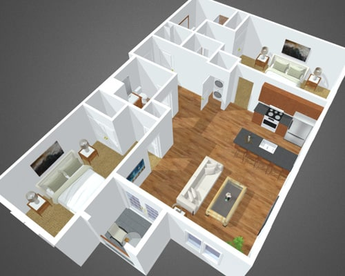 Smithtown Bay floor plan at Overbay Luxury Apartments