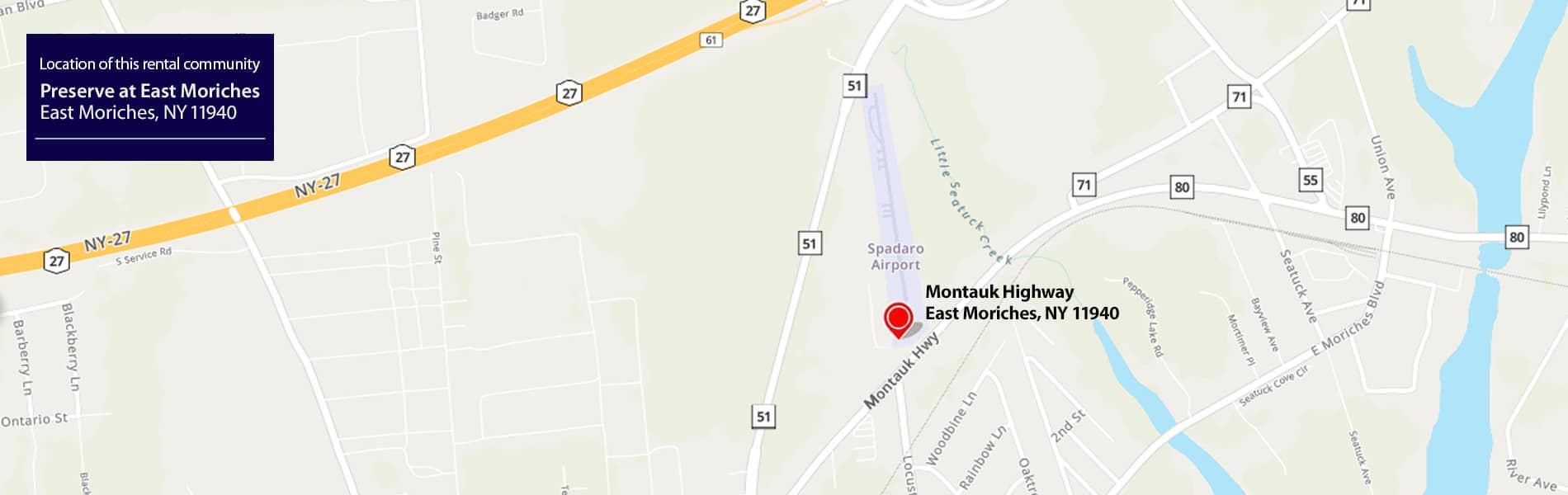 Preserve at East Moriches Map
