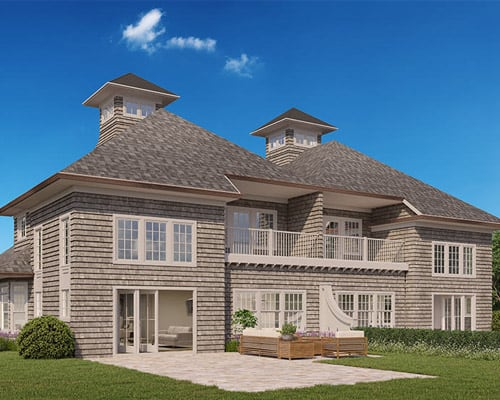 The Preserve at Indian HIlls townhouse rendering back